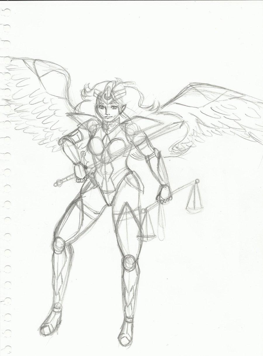 900x1218 Warrior Angel By Alesan94