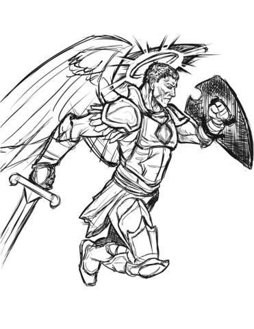 371x480 Warrior Angel Coloring Page Free Printable Coloring Pages