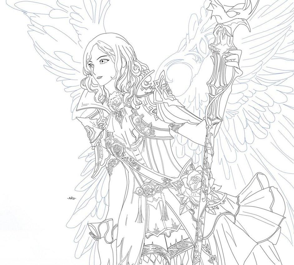 942x848 Warrior Fantasy Angel By Aira Yuzuriha