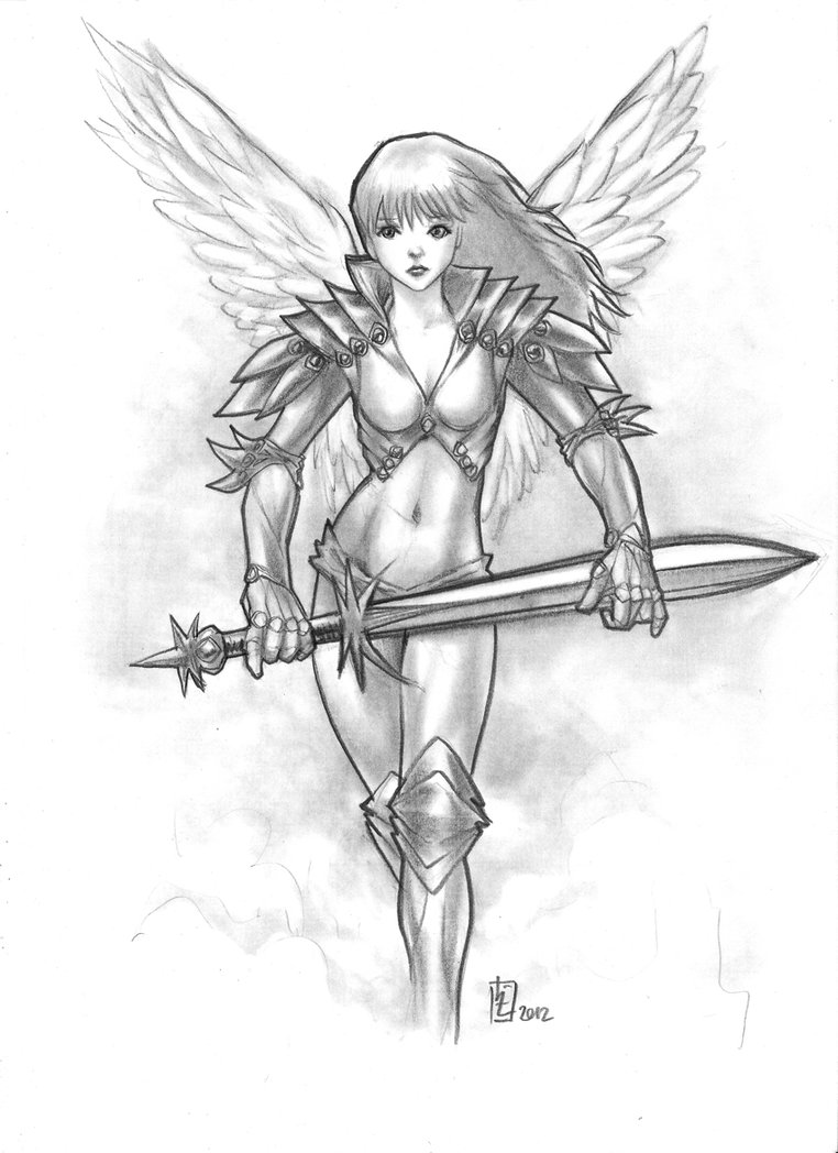 762x1048 Angel Warrior By Huy Truong