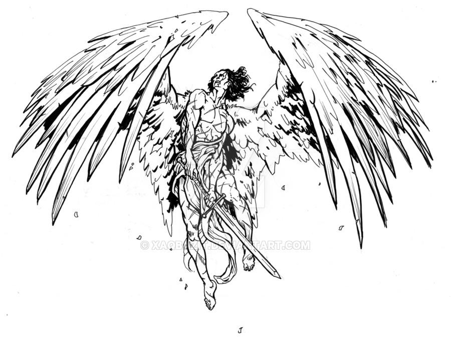 900x678 Angel Warrior By Xaqbazit