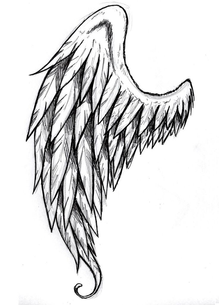 736x1025 Drawn Hand Angel Wings