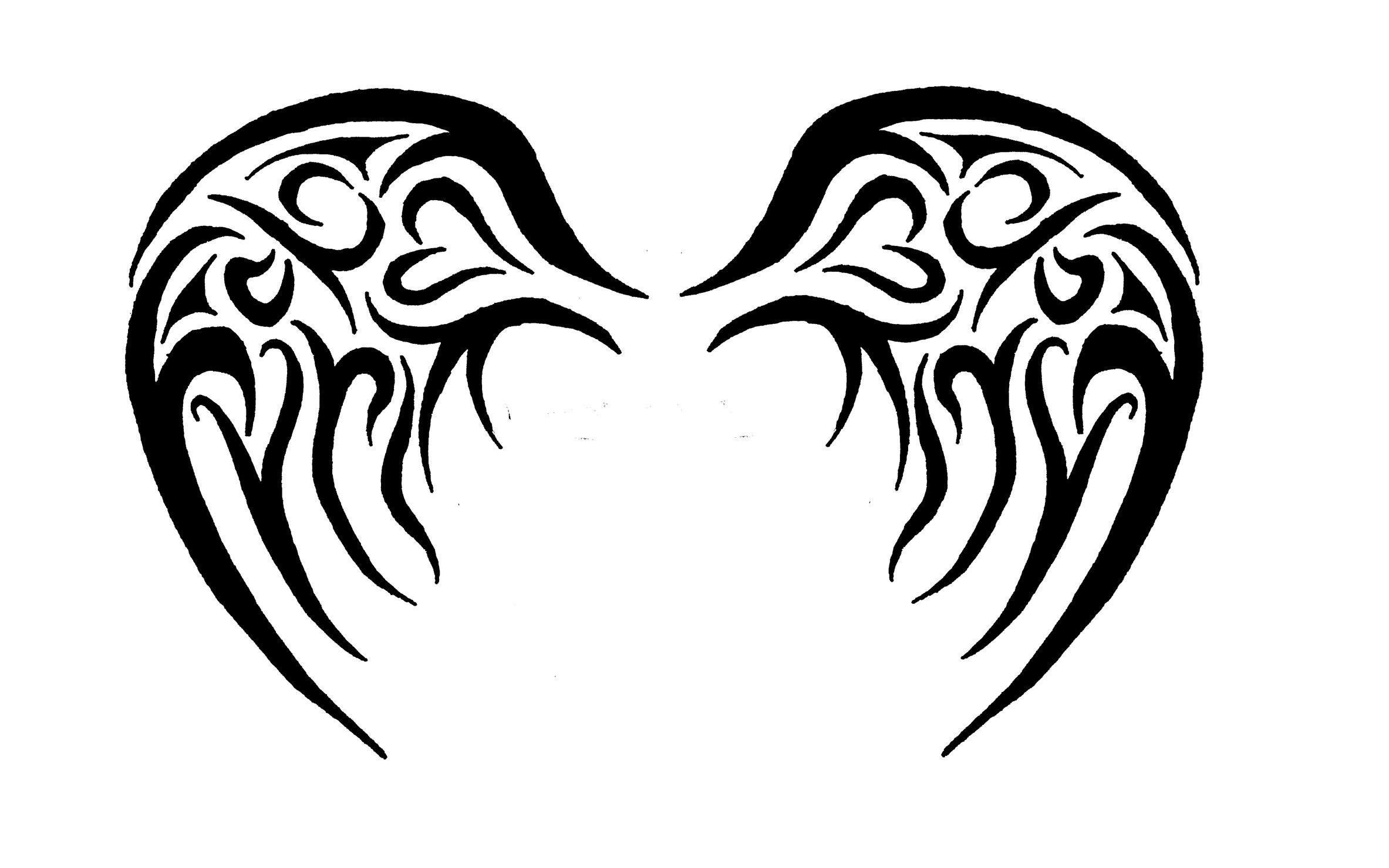 2366x1479 Baby Angel Tribal Wings By Jaytori129