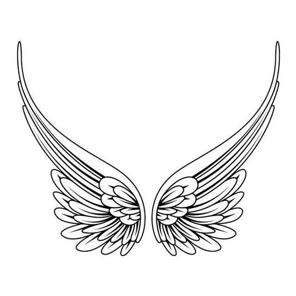 600x600 Simple Angel Wings Tattoo