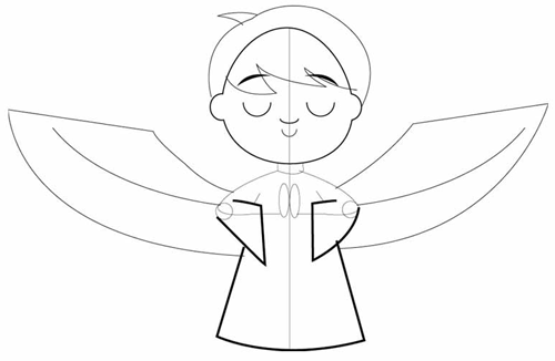 500x326 How To Draw Cartoon Angels In Easy Step By Step Drawing Tutorial