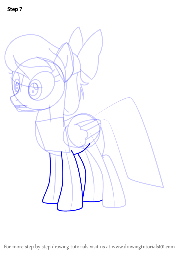 600x846 Learn How To Draw Angel Wings From My Little Pony