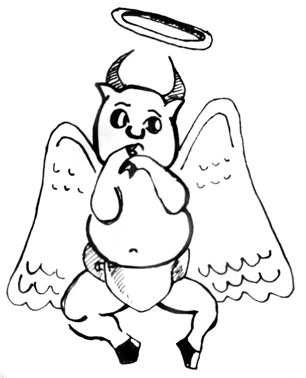 600x741 Angel Wings With Halo Drawings