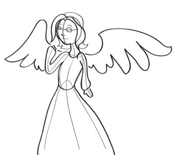 349x330 How To Draw Angels
