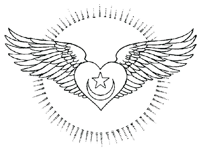 800x603 Hearts With Wings Coloring Pages