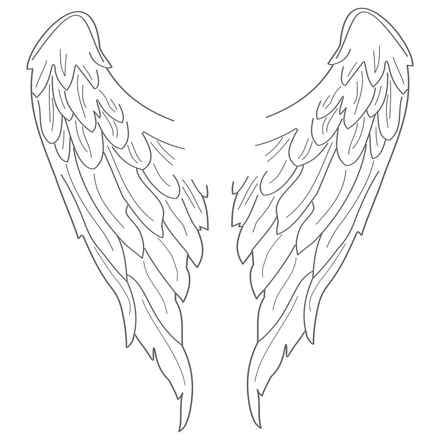 Angel Wings And Halo Drawing at GetDrawings.com | Free for personal ...