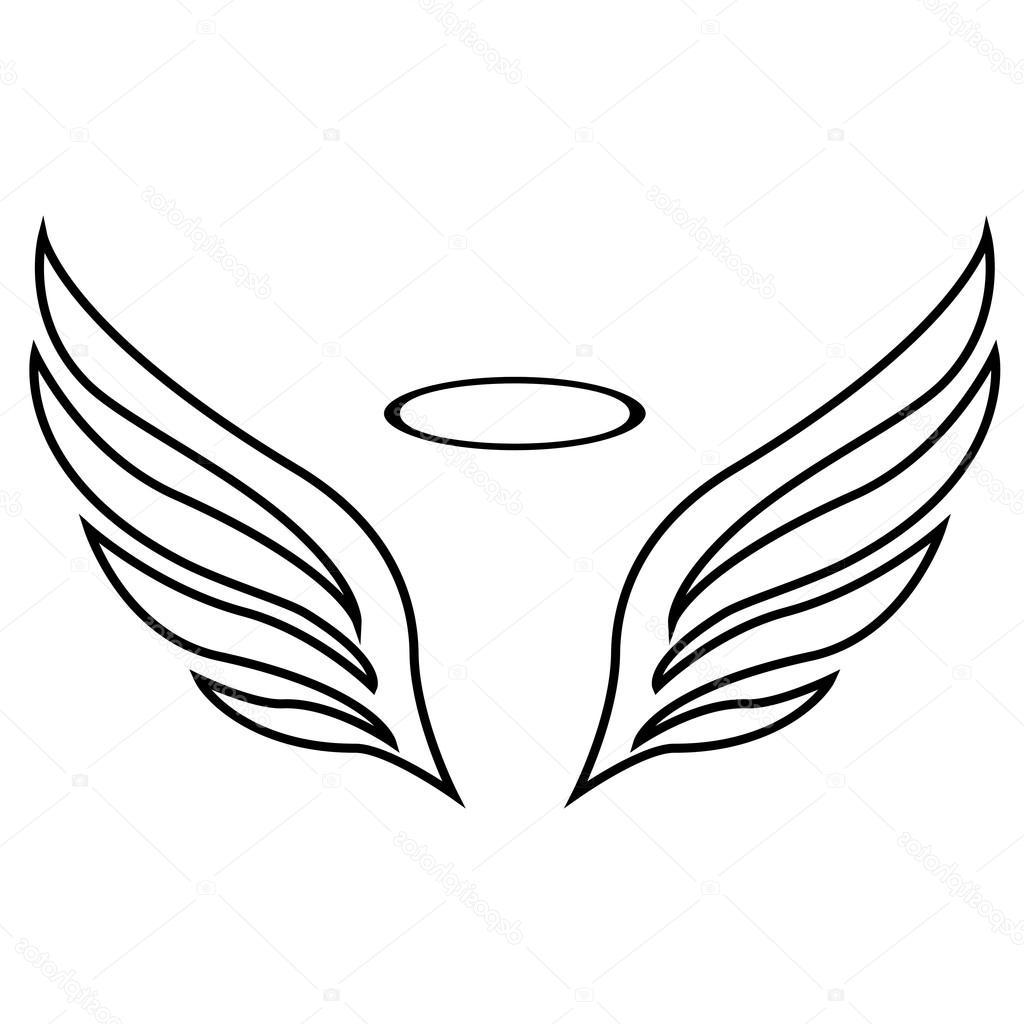 1024x1024 Best 15 Stock Illustration Vector Sketch Of Angel Wings Drawing