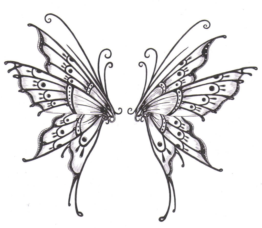 1023x891 Butterfly Wings Drawing Butterfly Angel Wing Clipart