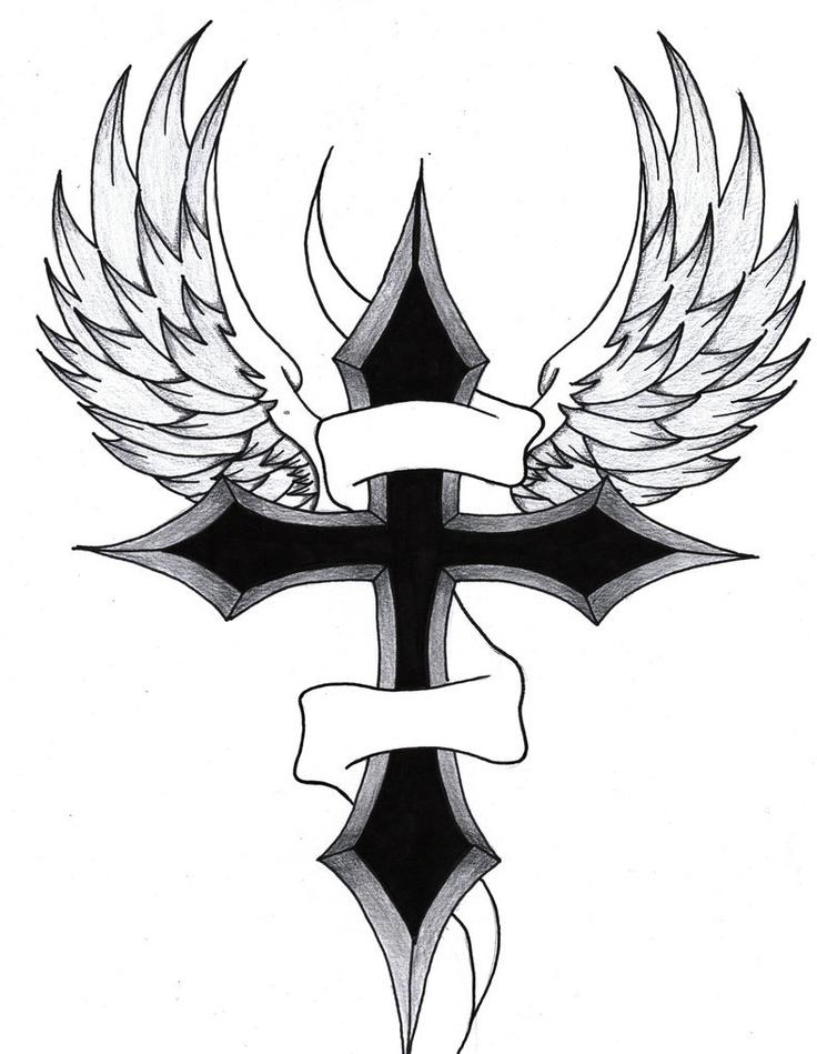 736x949 Drawn Cross Wing