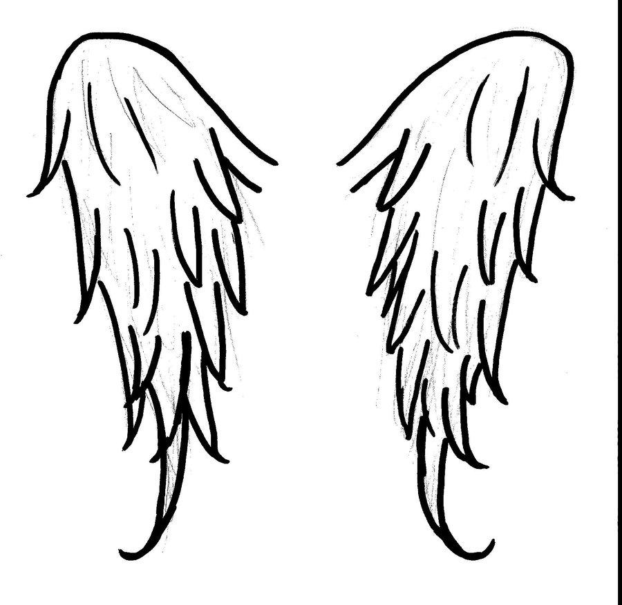 900x876 Angel Wings By Midsummerdawn