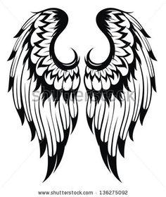 236x280 Angelic Wings Sketch Guardian Angel Jewelry Wings