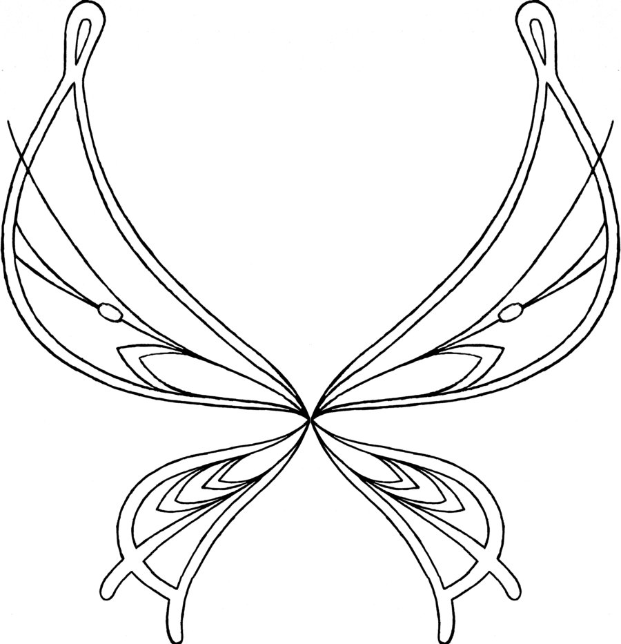 900x933 Angel Wings Coloring Pages Coloring Free