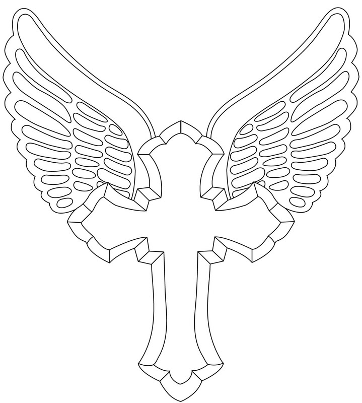 719x800 Cross Outline Tattoo Designs Vector Tattoo Design