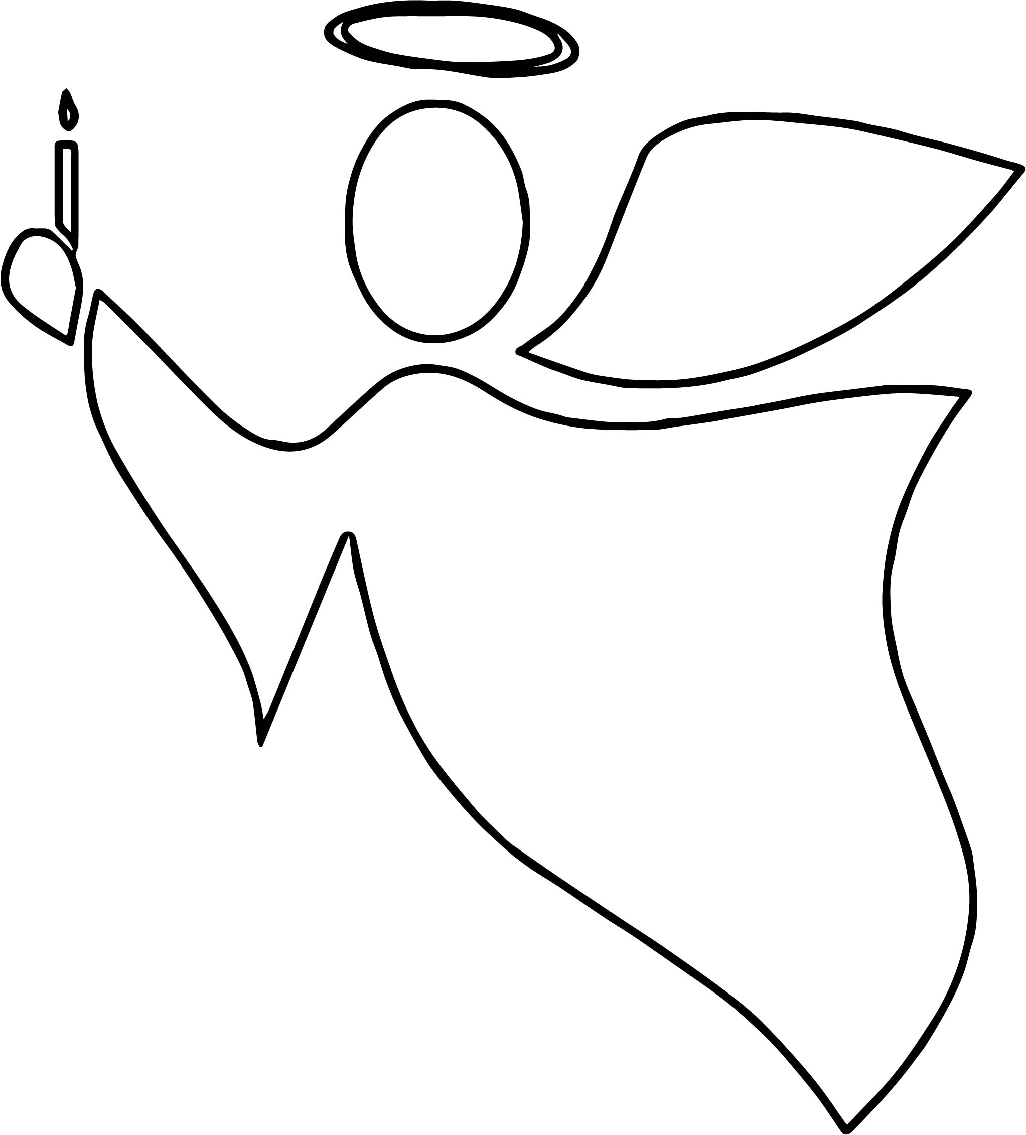 2045x2262 Angel Outline Candle Coloring Page Wecoloringpage