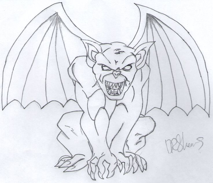 736x632 Collection Of Gargoyle Wip Tutorial Drawing