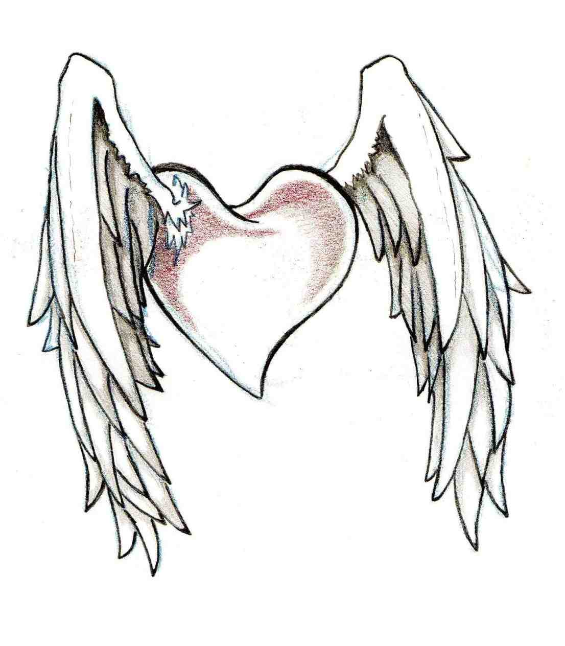 1106x1264 Easy Step By Step Drawings Of Hearts With Wings To Draw A Heart
