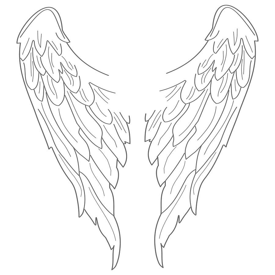 900x900 Angel Wings Wall Sticker Angel Wings, Angel And Craft