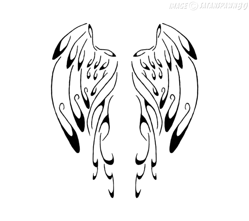800x711 Calligraphy Angel Wings By Satanspawn80