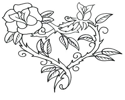 400x322 Coloring Pages Of Hearts Wings Heart Coloring Pages