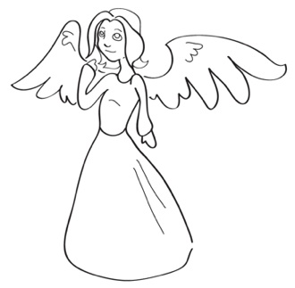 330x323 How To Draw Angels