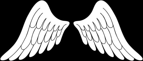 550x236 Pair Of White Angel Wings