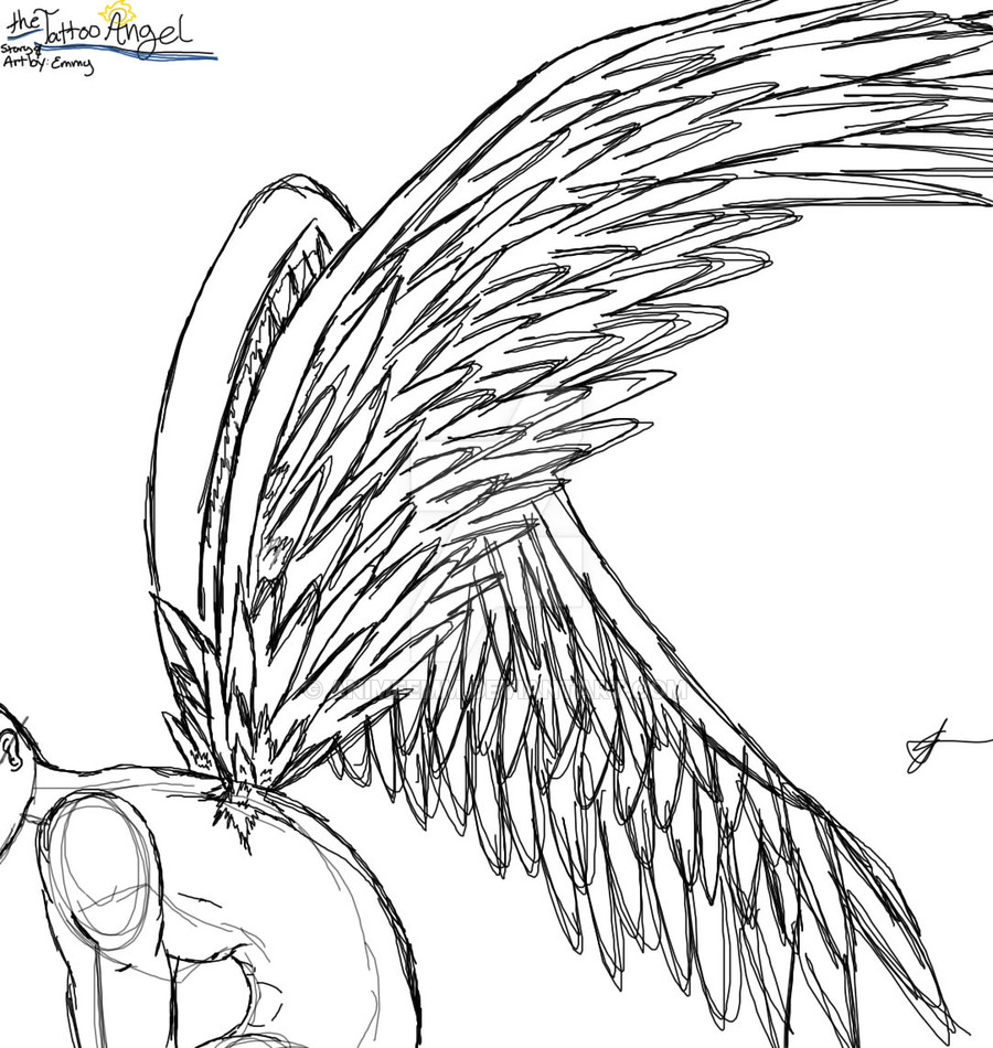 900x950 The Tattoo Angel Wing Practice By Animeemm