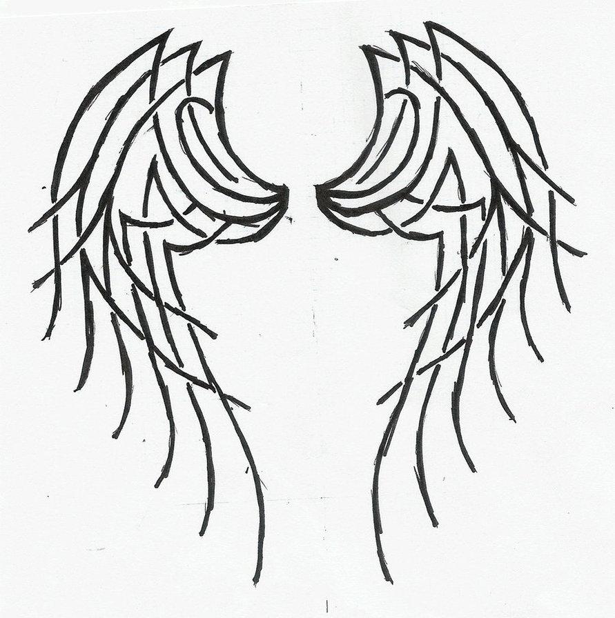 891x896 Tribal Angel Wings Tattoo By Katerlin