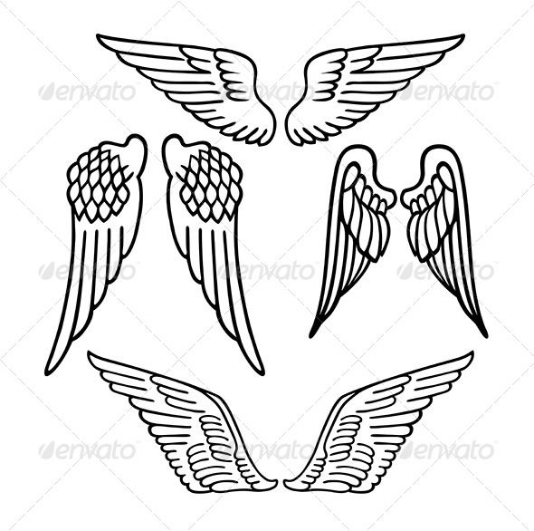 590x586 Angel Wings Angel Wings, Tattoo Templates And Tattoo Designs