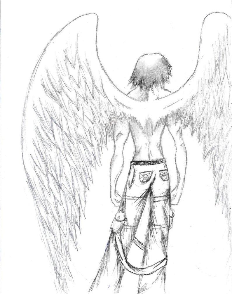 795x1006 Pencil Drawings Of Angel Wings Angel Wingstaseo