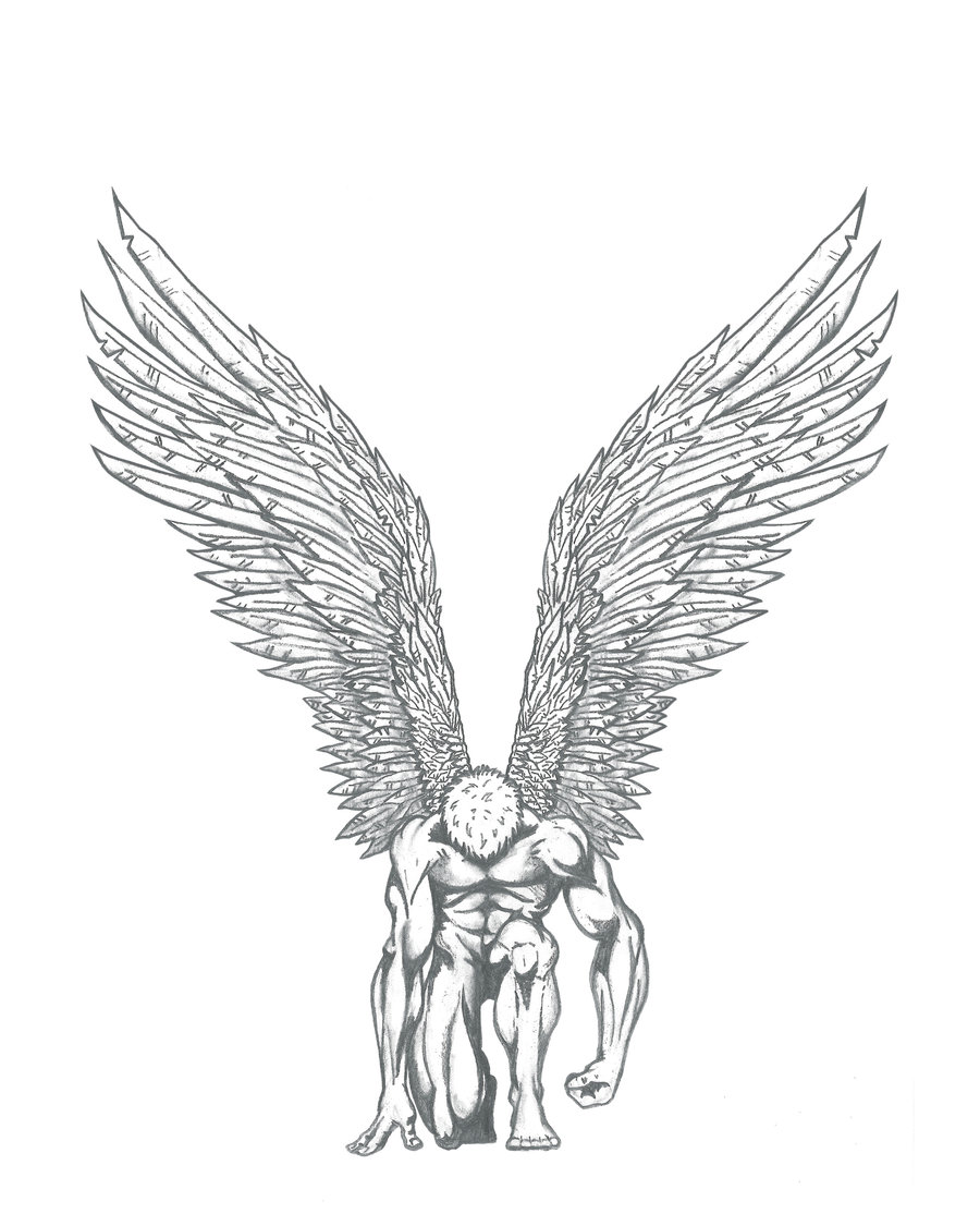 900x1125 Rising Angel By Graphisteetplus