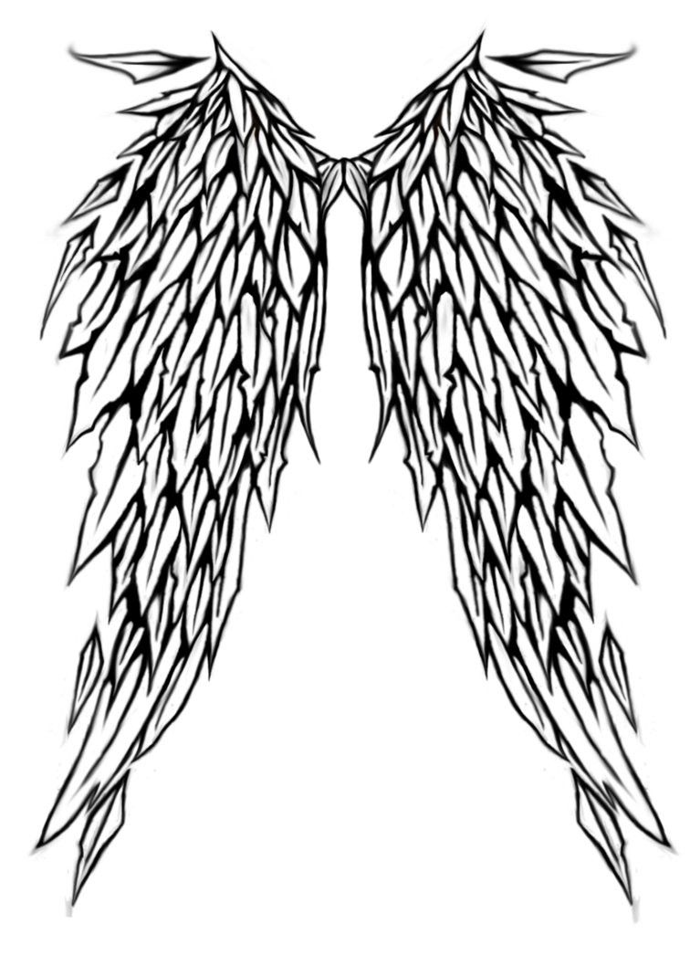756x1057 Angel Wing Tattoo Design By Littlenatnatz101