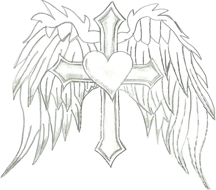 736x649 Angel Wings Pictures Color Beautiful Angel Wings Coloring Pages