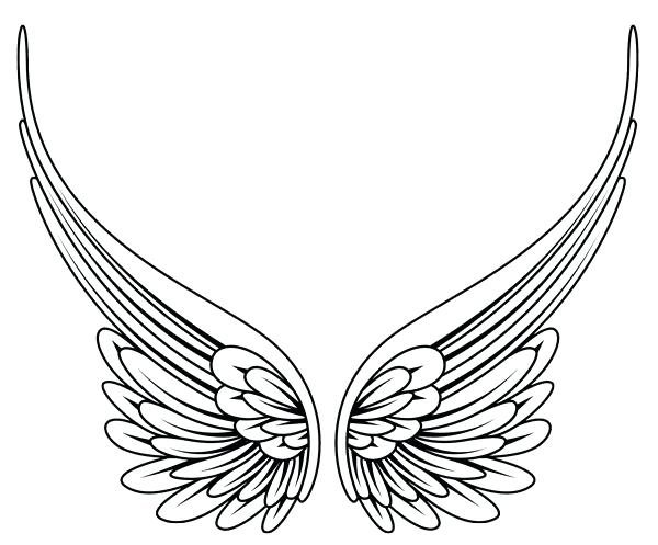 600x497 Angel Wings Pictures Color Pin Wings Blue Angel 2 Coloring Pages