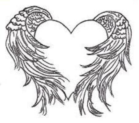 452x400 Angel Wing Heart Tattoo Designs ~ Tattooic