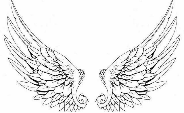 640x395 Angel Wings Tattoo Stencil ~ Tattooic