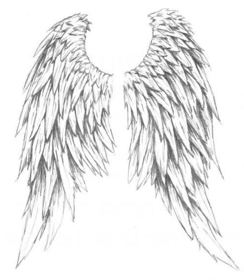 1024x1177 Beautiful Angel Wings Tattoo Drawings