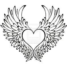 236x236 Simple Angel Wings Tattoo Designs Elaxsir