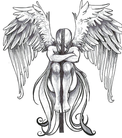 400x454 Tattoo Fonts Real Common Sensereviews Bookangel Tattoos Angel