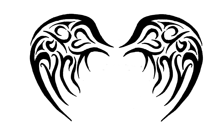 5760x3600 Tribal Angel Wing Tattoos Tribal Angel Wings Tattoo
