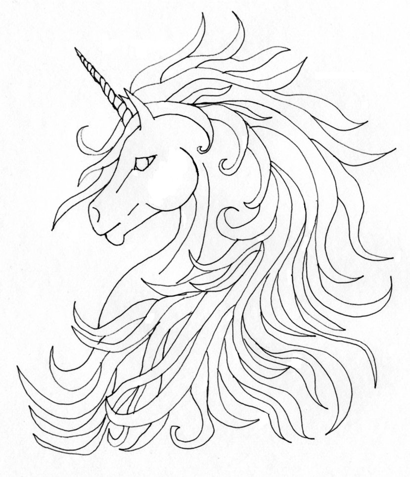 829x964 Unicorn With Angel Wings Tattoo Drawing In 2017 Real Photo