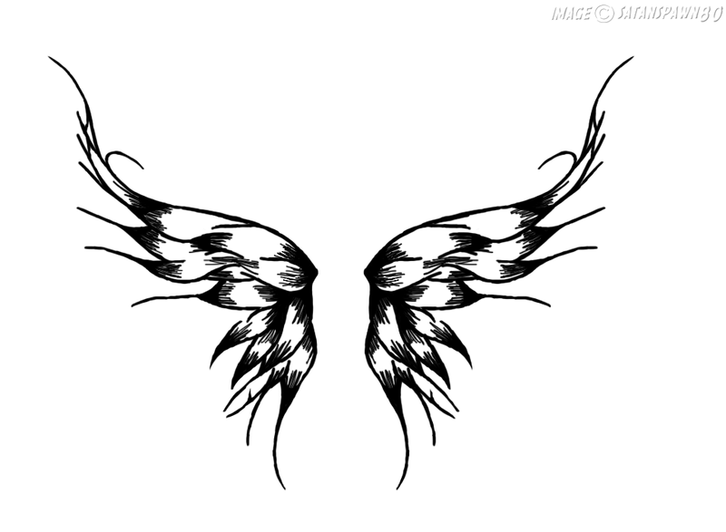 800x587 Wings Tattoo By Satanspawn80