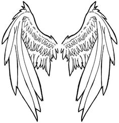 236x245 Angel Wing Tattoos Angel Wing Tattoos Large Tribal Angel Wing