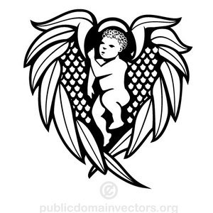 Angel With Wing Drawing