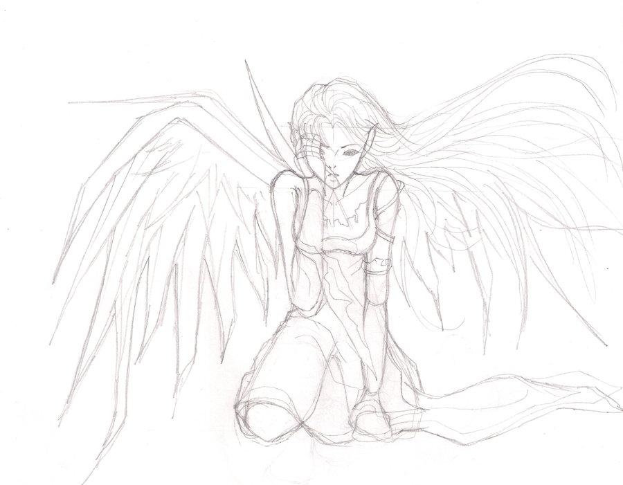 900x701 Drawn Sketch Broken Angel