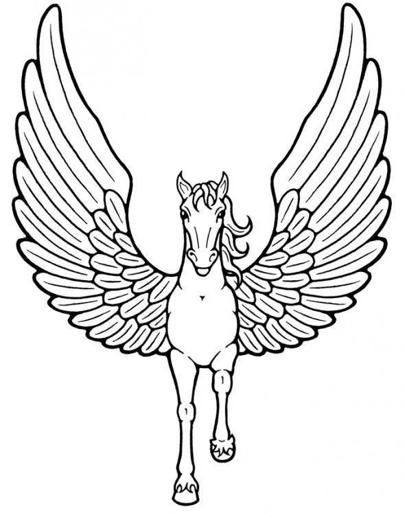 590x747 Simple Angel Wings Coloring Sheets Colorful Angel Wings