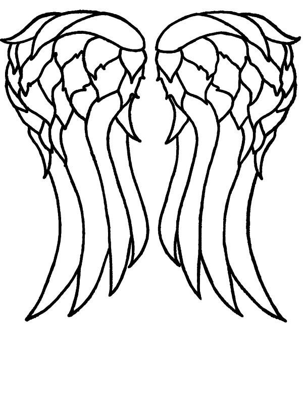 600x800 Daryl's Angel Wings Stickers By Walkingmatt Redbubble